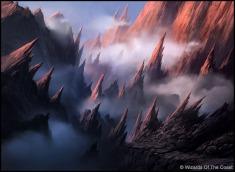 Andreas Rocha Magic: The Gathering Mountain Land Card