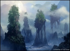 Andreas Rocha Magic: The Gathering Island Land Card