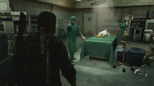 Image result for the last of us remastered ps4 screenshots joel saves ellie hospital