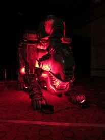 Wolfenstein's big robot dog statue