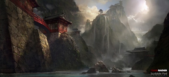 Tomb Raider concept art by James Paick