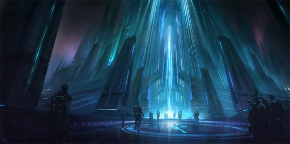 Tron: Evolution concept art by James Paick