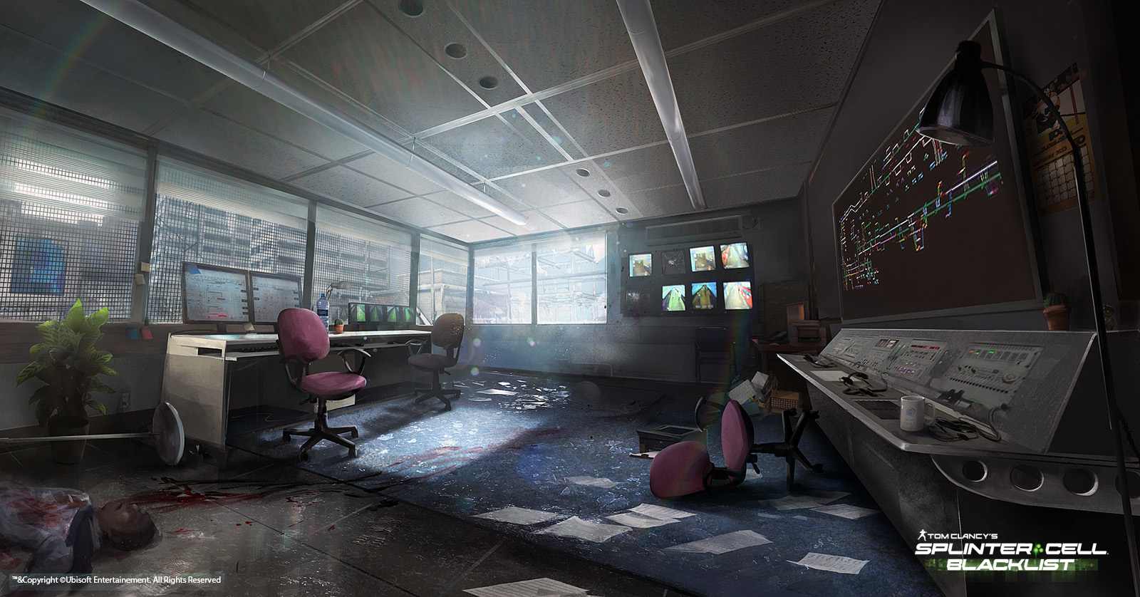 Concept art roundup splinter cell blacklist beyond two for Room design concept