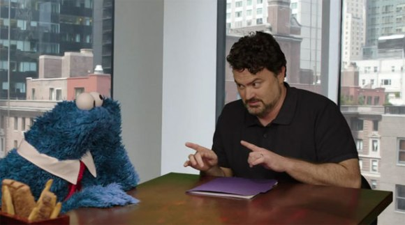 Tim Schafer and Cookie Monster