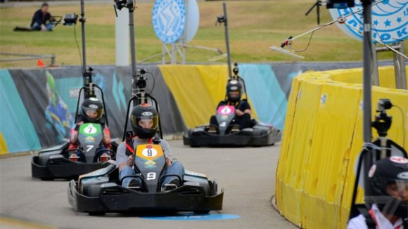 Mario Kart racing at SXSW Gaming 2014